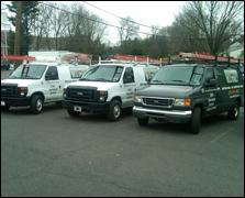 HVAC service trucks