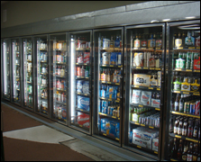 large beer refrigerator found at a store
