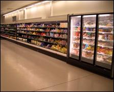 a supermarket refrigeration system