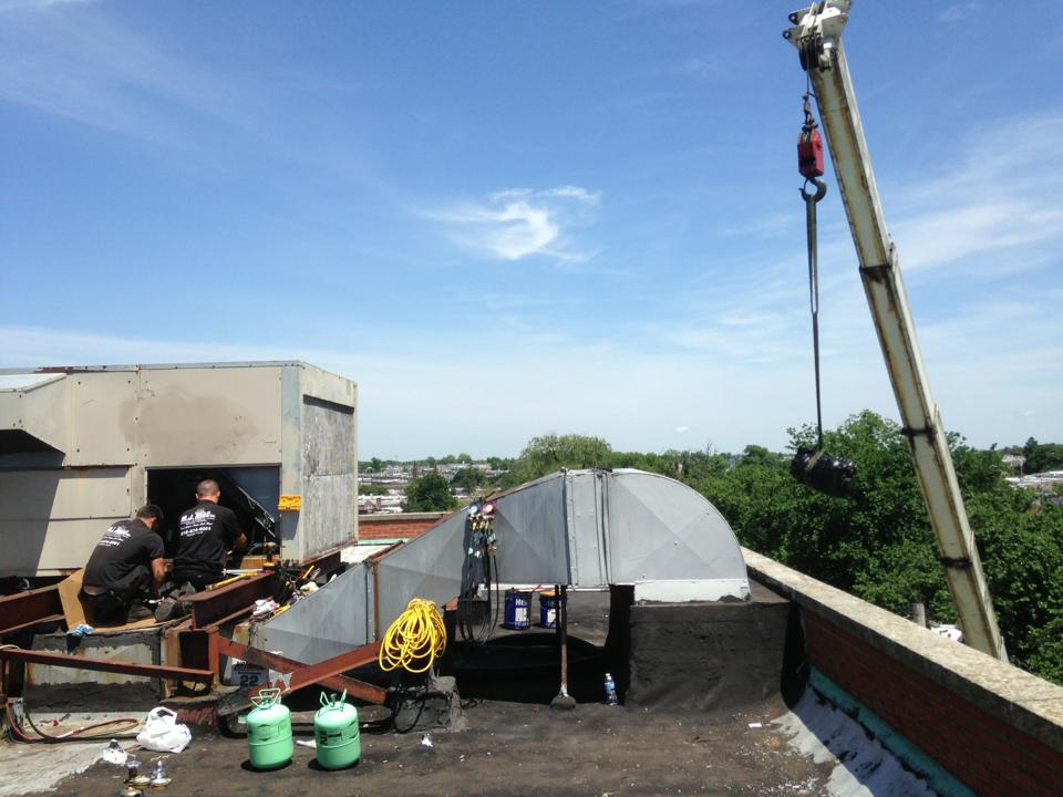 rooftop cooling unit installation