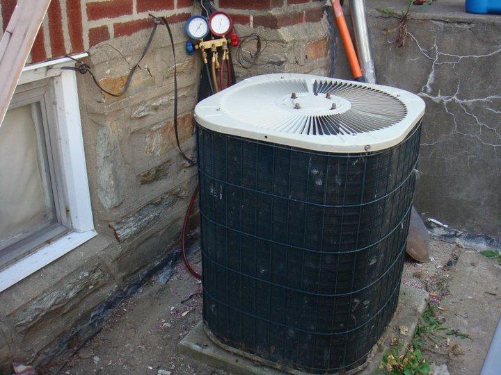 a broken air conditioning unit