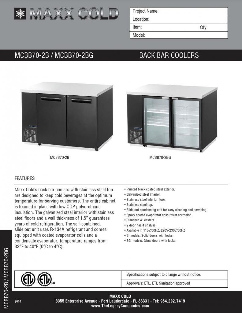 MCBB70-2B--MCBB70-2BG Spec Sheet pg1
