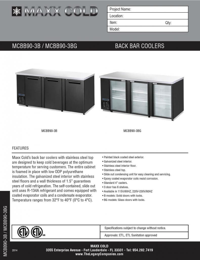MCBB90-3B--MCBB90-3BG Spec Sheet pg1