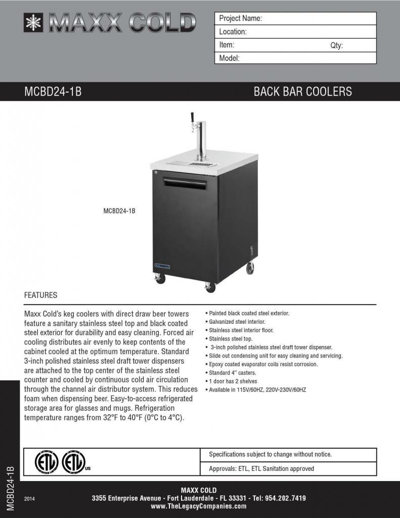 MCBD24-1B Spec Sheet pg1