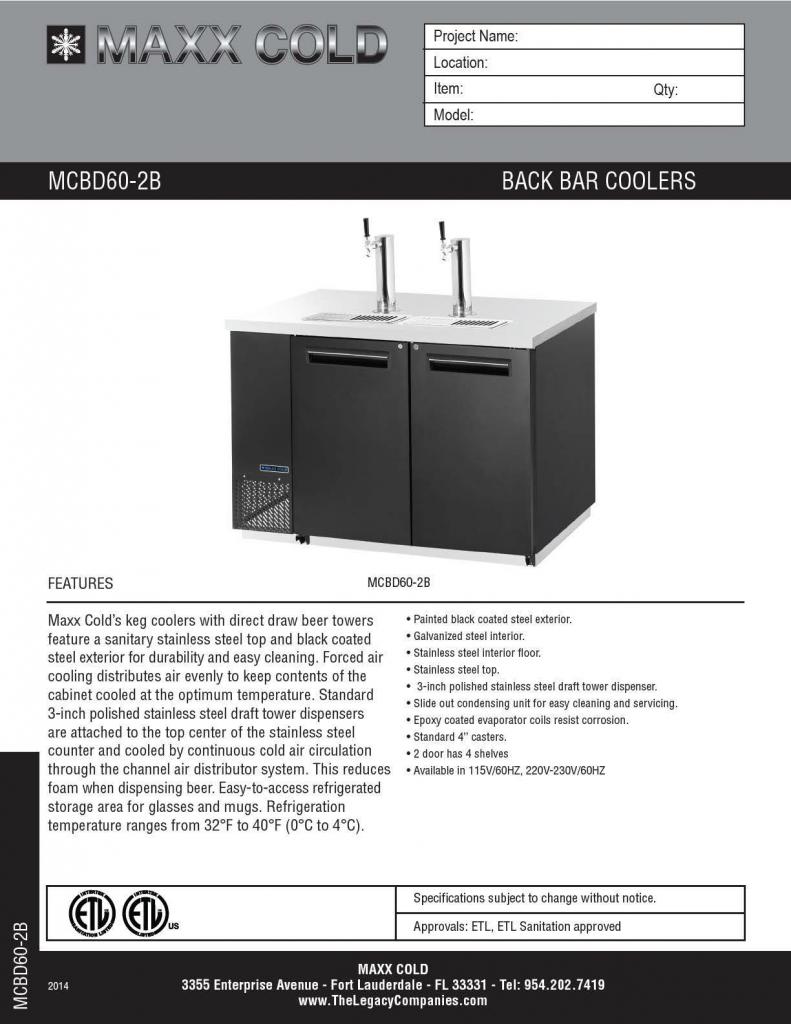 MCBD60-2B Spec Sheet pg1