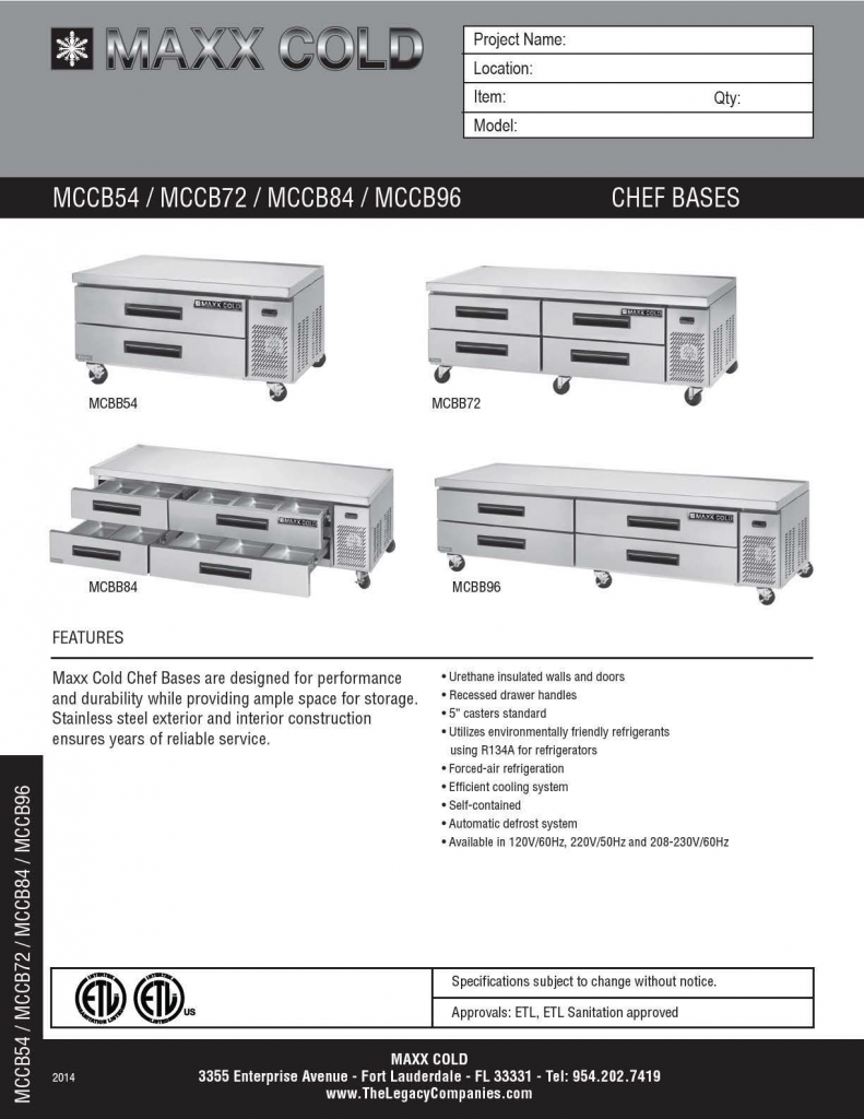 MCCB Chef Bases Spec Sheet pg1